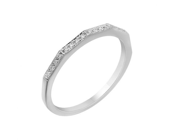 Каблучка з білого золота з діамантами ZARINA