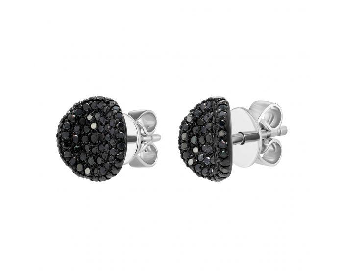 Сережки з чорними діамантами