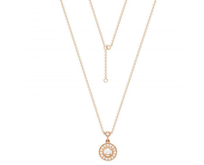 Кольє Валері з діамантами в рожевому золоті