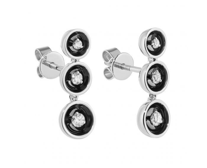 Сережки-трансформери з діамантами