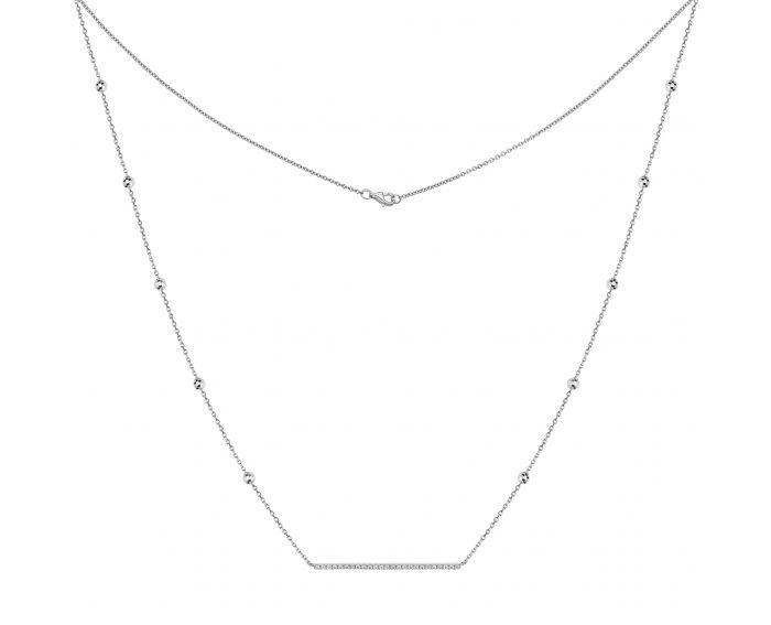 Колье из белого золота с бриллиантами ZARINA