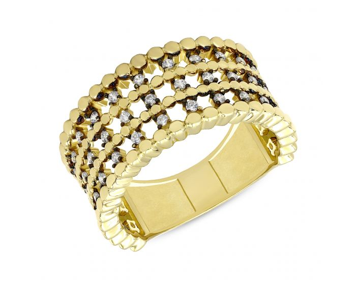 Каблучка ZARINA з жовтого золота