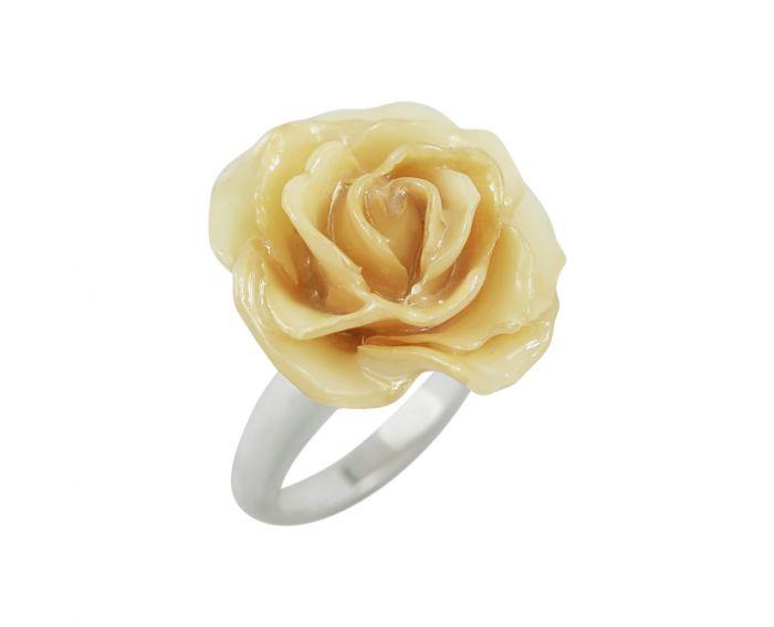 Каблучка срібна Троянда