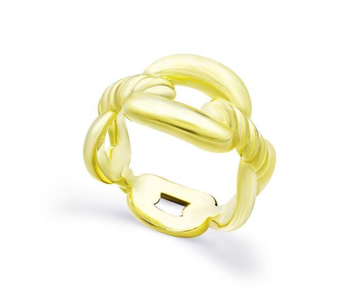 Каблучка срібна ZARINA жовтий родій