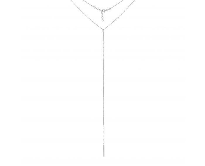 Кольє-сотуар срібне білий родій