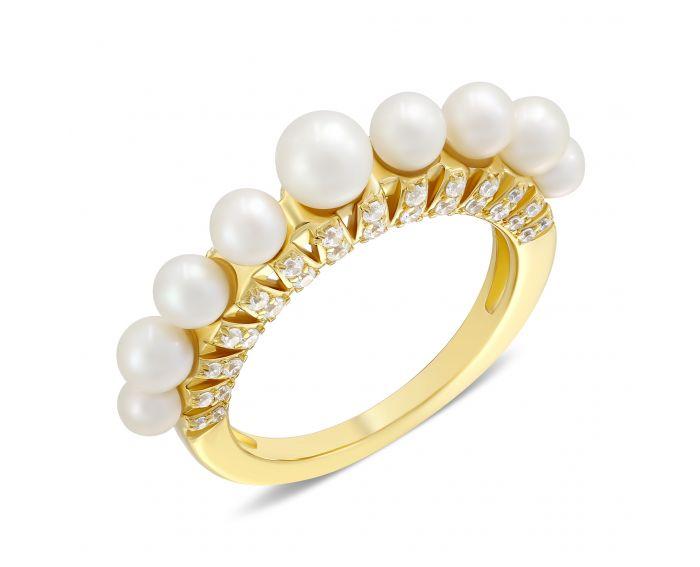Кольцо Тереза желтый родий