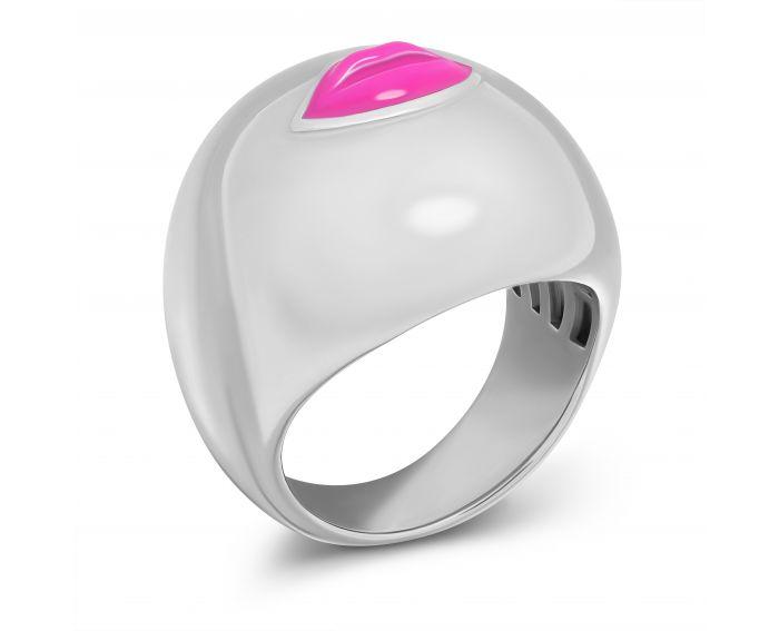 Каблучка Цілунок рожевий глянець