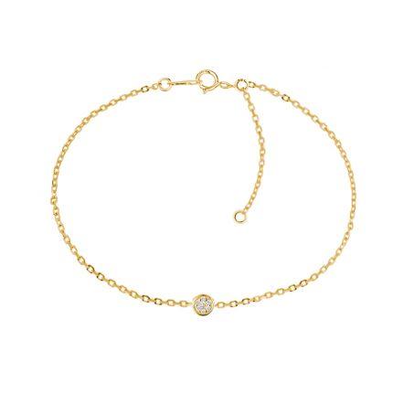 Браслет Діна з діамантом в жовтому золоті