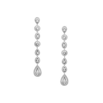 Сережки срібні з фіанітами NATKINA Ірина