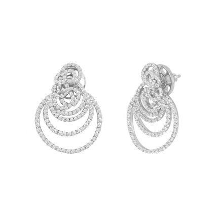 Сережки срібні з фіанітами NATKINA