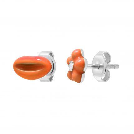 Сережки Цілунок-квіточка помаранч