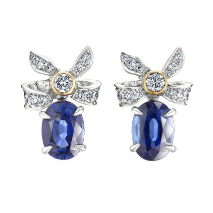 Сережки з діамантами та сапфірами Imperial FABERGÉ