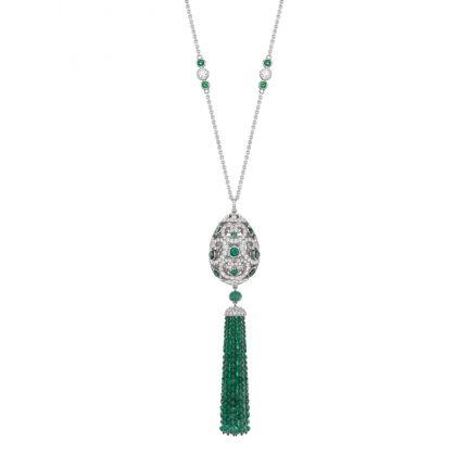 Кольє з діамантами та смарагдами FABERGÉ