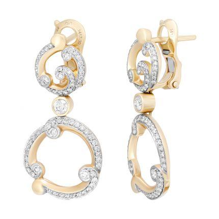 Серьги с бриллиантами Rococo FABERGÉ