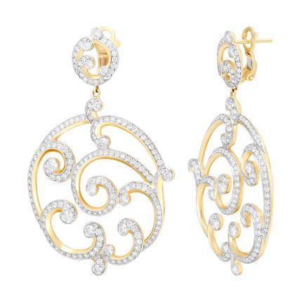 Сережки з рожевого золота діамантові Rococo FABERGÉ