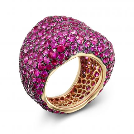 Каблучка Emotion pink sapphire