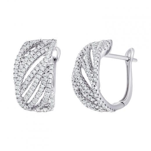 Сережки з діамантами у білому золоті Версаль