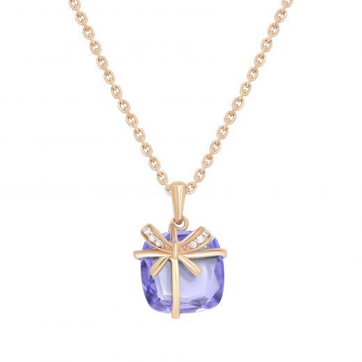 Підвіс з діамантами Аметистовий подарунок