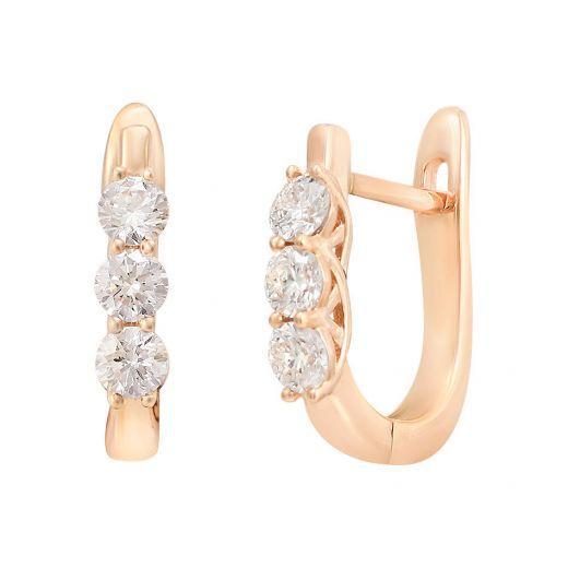 Серьги из розового золота с бриллиантами ZARINA