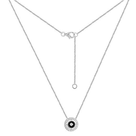 Кольє з діамантами та чорним родієм Ажур