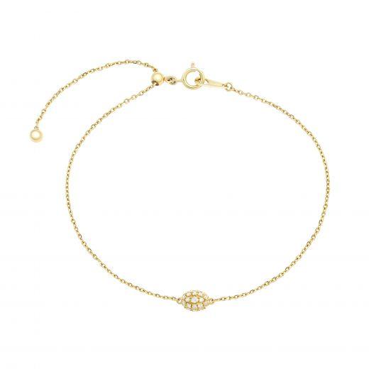 Браслет з діамантами у жовтому золоті Лія