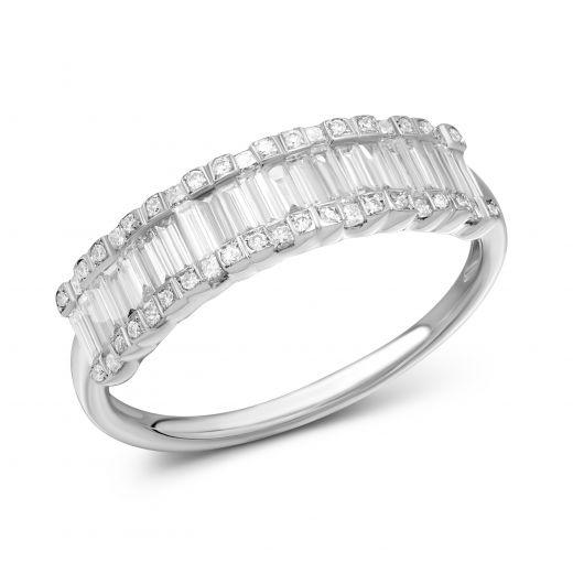 Каблучка Ділярам з діамантами в білому золоті