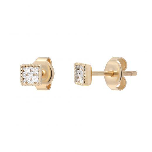 Сережки з діамантами Рівновага рожеве золото