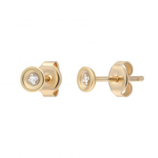 Сережки з діамантами Відкритість рожеве золото