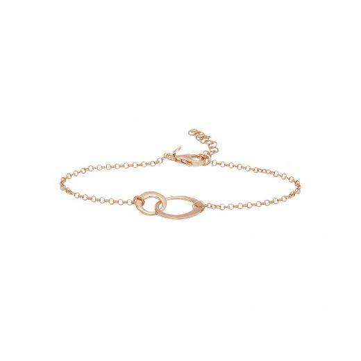 Браслет серебряный ZARINA розовый родий