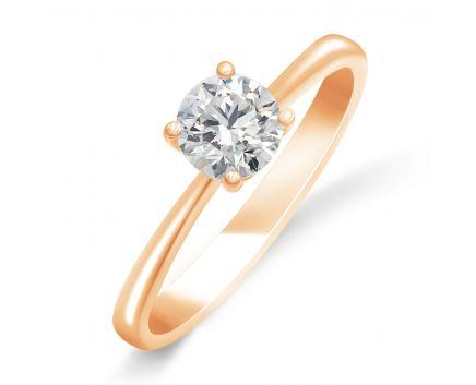 Каблучка з рожевого золота з діамантом ZARINA