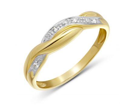 Каблучка Струмок з діамантами