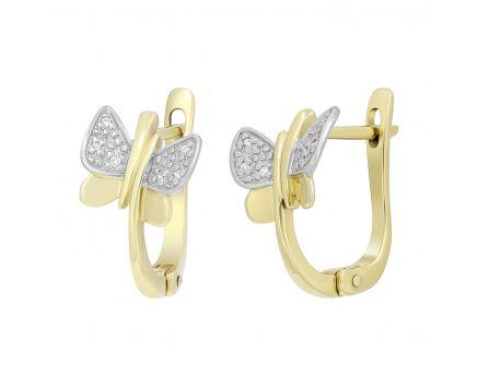 Сережки з діамантами Метелики