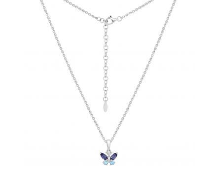 Кольє з діамантами та кордієритом Метелик