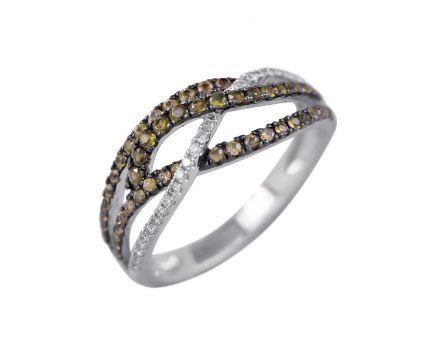 Каблучка з коньячними діамантами Ізабелла