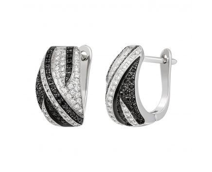Сережки з діамантами у білому золоті Елеонора