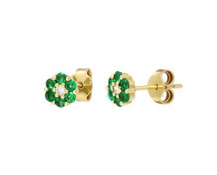 Сережки з смарагдами та діамантами