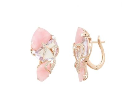 Сережки з діамантами Крила метелика