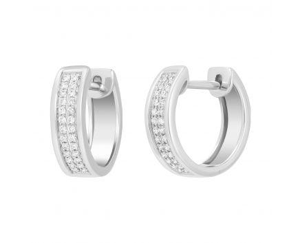 Сережки з діамантами у білому золоті Мері