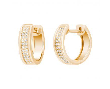 Сережки з діамантами у рожевому золоті Мері