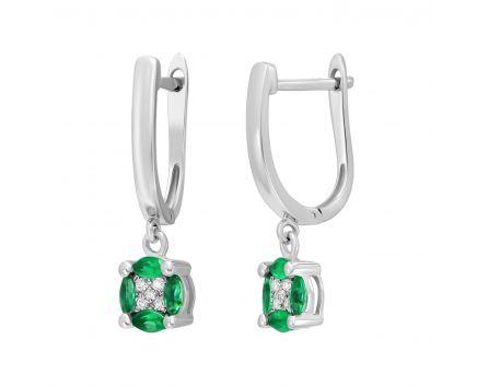Сережки з смарагдами та діамантами Сузір'я