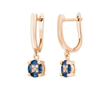 Сережки з сапфірами та діамантами Сузір'я