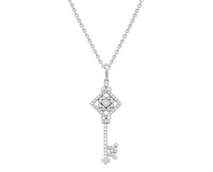 Підвіс Ключ золотий з діамантами