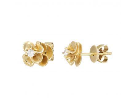 Сережки з діамантами Гортензія