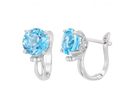 Сережки з топазами та діамантами