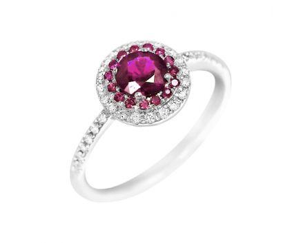 Каблучк з діамантами та рубінами