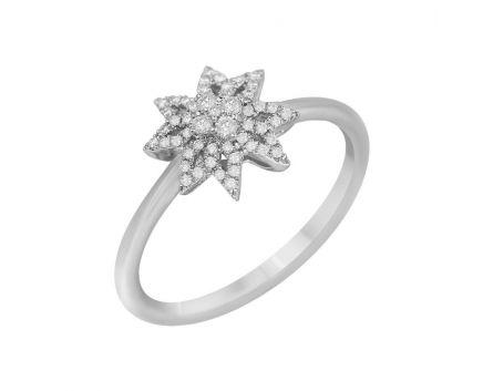 Каблучка ZIRKA з діамантами в білому золоті