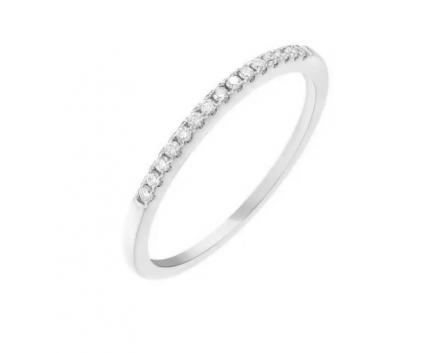 Каблучка з білого золота діамантова