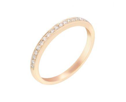 Каблучка з рожевого золота з діамантами ZARINA Афродіта