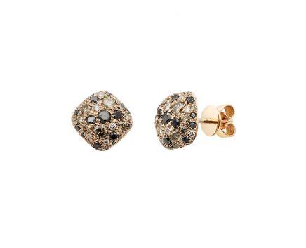 Сережки з рожевого золота з діамантами ZARINA