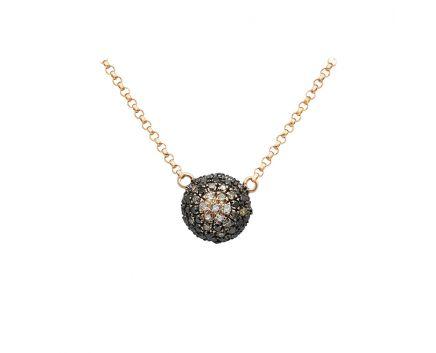 Колье из розового золота с бриллиантами ZARINA